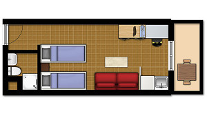Double Studio plan 2 BIG RES
