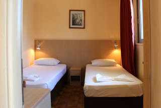 family studio philoxenia hotel beds