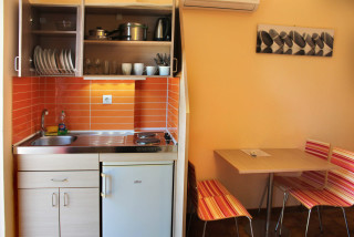family studio philoxenia hotel kitchen
