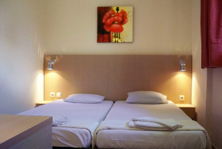 family studio philoxenia hotel main bedroom