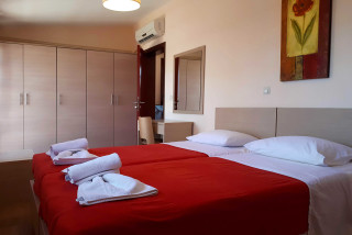 roof apartment philoxenia hotel bed