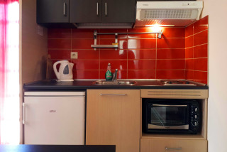 roof apartment philoxenia hotel kitchen