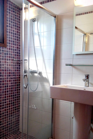 roof apartment philoxenia hotel shower