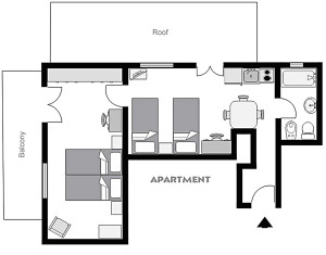 roof apartment plan