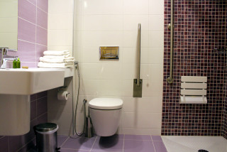 standard studio for disabled philoxenia hotel bathroom