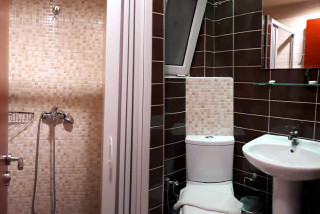 standard studio for disabled philoxenia hotel the bathroom