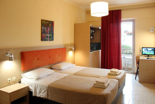 standard studio philoxenia hotel cozy bedroom